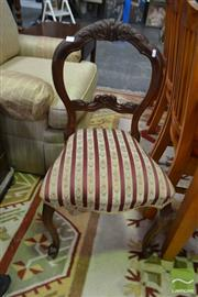 Sale 8515 - Lot 1047 - Set of 4 Mahogany Balloon Back Dining Chairs
