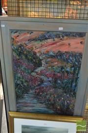 Sale 8541 - Lot 2093 - Artist Unknown Landscape, oil on board, 75.5 x 50cm, unsigned