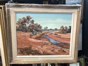 Sale 8797 - Lot 2030 - Australian Country Scene In Timber Frame Signed Lower Left Margret Lang (43 x34cm) (1)