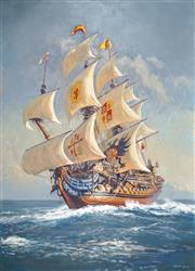 Sale 8881 - Lot 518 - Robert Lovett (1930 - ) - Spanish Galleon 221 x 167 cm