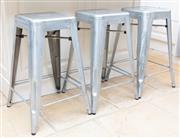 Sale 8866H - Lot 60 - Three tolix style kitchen stools