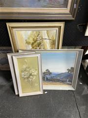 Sale 8924 - Lot 2068 - Collection of Oils, incl. N. Ward, Woollahra Impression; Landscape; 2 x E. Sefton Floral Studies (4)