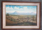 Sale 9041 - Lot 2070 - Miguel Angel Oropeza - Landscape with Distant City, 49 x 74 cm (frame: 69 x 92 x 6 cm)