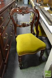 Sale 8515 - Lot 1032 - Pair of Carved Back Dining Chairs