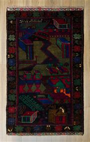 Sale 8566C - Lot 17 - Persian Baluchi 140cm x 80cm