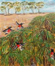 Sale 8781 - Lot 503 - Pasquale Giardino (1961 - ) - Birds in Australian Landscape 61 x 51cm