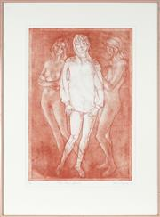 Sale 8853 - Lot 2059 - Louis Kahan (1905 - 2002) - Three Graces, 1985 55 x 38cm