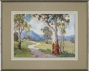 Sale 8941 - Lot 2042 - John W. Roach On the Road to the Valley, Near Yea watercolour, 26 x 36cm, signed lower right -