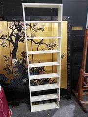 Sale 8988 - Lot 1049 - White Painted Open Shelves (H:195cm)