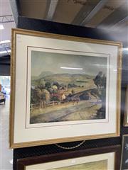 Sale 8995 - Lot 2068 - Lloyd Rees Decorative Print, 87 x 97cm