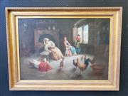 Sale 9031 - Lot 1020A - Italian School XIX - Domestic Interior canvas (80 x 116cm )