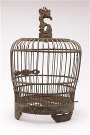 Sale 9070 - Lot 12 - Rustic Timber Birdcage (H:37cm)