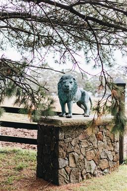 Sale 9200P - Lot 52 - A pair of bronze lions, Height 80cm x Length 130cm