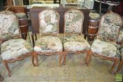 Sale 8383 - Lot 1418 - Set of 8 Floral Upholstered Dining Chairs