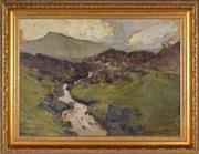 Sale 8394 - Lot 563 - William Beckwith McInnes (1889 - 1939) - A Lovely Scottish Moor, Near Loch Tay (Sept. 1912) 41.5 x 57cm