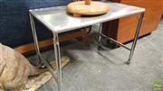 Sale 8409 - Lot 1042 - Stainless Steel Adjustable Table on Castors