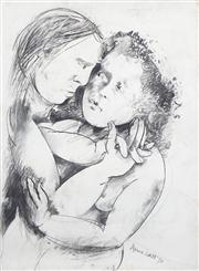 Sale 8410A - Lot 5045 - Anne Hall (1945 - ) - Untitled, 1976 (Lovers Gazing) 76.5 x 56cm (sheet size)