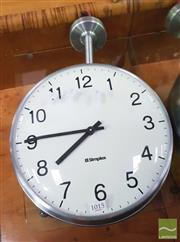 Sale 8424 - Lot 1015 - Double Sided Simplex Wall Clock