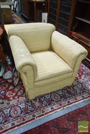 Sale 8507 - Lot 1023 - Edwardian Gold Upholstered Armchair