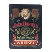 Sale 8588 - Lot 744 - 1x Jack Daniels Old No.7 Tennessee Whiskey - in limited edition tin canister w 2 glasses