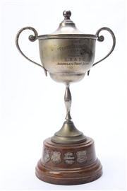 Sale 8670 - Lot 77 - Vintage Plated Trophy On Stand