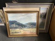 Sale 8914 - Lot 2078 - 3 Works: A. Van Wyk Hunters Hill; D.A. Davis Bellbird & Mountain View, Oils, Various Sizes