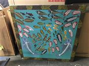 Sale 9024 - Lot 2081 - Artist Unknown, The Underwater Worlds, acrylic on canvas, 81 x 80cm