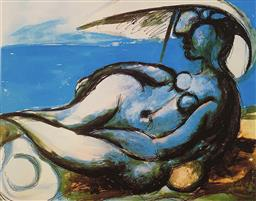 Sale 9108A - Lot 5011 - Pablo Picasso (1881 - 1973) - Reclining Nude 30 x 43 cm (sheet)