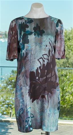 Sale 9120K - Lot 63 - An Emporio Armani 3/4 sleeve dress; with floral design, size 40