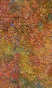 Sale 8325 - Lot 530 - Gloria Petyarre (c1945 - ) - Mountain Devil Lizard (swirling in the sand) 150 x 90cm