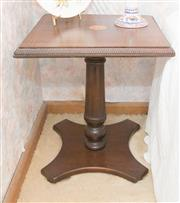 Sale 8346A - Lot 218 - A mahogany and inlay Sheraton style side table