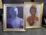 Sale 8417T - Lot 2057 - Artist Unknown (2 works) - Portraits, acrylic on canvas (AF), framed, various sizes, each signed lower -