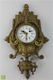 Sale 8505 - Lot 86 - Gilded Bronze Wall Clock (Needs Restoration)