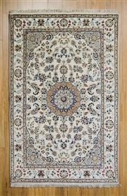 Sale 8566C - Lot 19 - Indo Persian Nain Silk Inlaid 122cm x 192cm