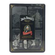 Sale 8588 - Lot 745 - 1x Jack Daniels Old No.7 Tennessee Whiskey - in limited edition tin canister w 2 glasses
