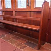 Sale 8649A - Lot 75 - An early C20th kauri pine church pew, H 103 x L 240 x D 39cm