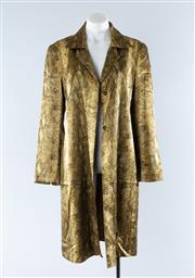 Sale 8800F - Lot 7 - A Carla Zampatti snakeskin printed silk three quarter coat, size 12