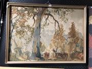 Sale 8807 - Lot 2093 - Framed Tapestry - Gum Trees, 50x67cm