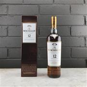 Sale 9062W - Lot 635 - The Macallan Distillers 12YO Sherry Oak Cask Single Malt Scotch Whisky - 43% ABV, 750ml