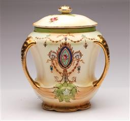 Sale 9104 - Lot 54 - A Crown Devon Lidded Vase (Small repair to lid, H 20cm)