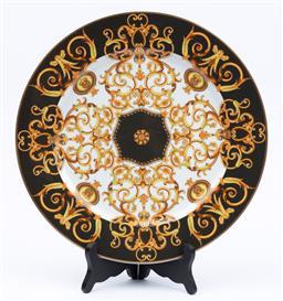 Sale 9130S - Lot 2 - A Versace for Rosenthal Barocco platter, Diameter 30.5cm