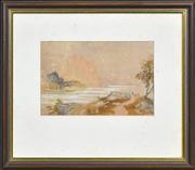 Sale 8408 - Lot 569 - Edward Lear (1812 - 1888) - Lake Maggiore 19 x 29cm