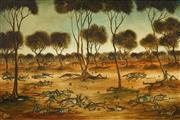 Sale 8492 - Lot 560 - Kevin Charles (Pro) Hart (1928 - 2006) - Untitled (Fallout from the Big Fight) 59.5 x 90cm