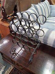 Sale 8593 - Lot 1085 - Metal Wine Rack
