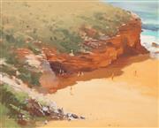 Sale 8657A - Lot 5018 - Allan Waite (1924 - 2010) - Turimetta Head, Warriewood Pittwater 34 x 42cm