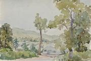 Sale 8713 - Lot 593 - William Torrance (1912 - 1988) - Army Camp, Atherton Tableland 16 x 23.5cm