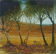 Sale 8738 - Lot 572 - Kevin Charles Pro Hart - Landscape 17 x 18cm