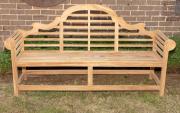 Sale 8795A - Lot 17 - A teak Lutchens bench, L 194cm