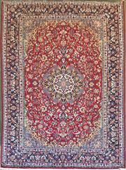 Sale 8831 - Lot 1045 - Persian Najafabad Isfahan Wool Carpet (396 x 295cm)