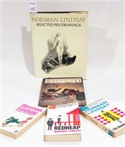 Sale 8822B - Lot 817 - 5 Volumes on & by N. Lindsay incl. Lindsay, N. Norman Lindsay Selected Pen Drawings, pub. A&R, 1968; Lindsay, N. The Cousin from...